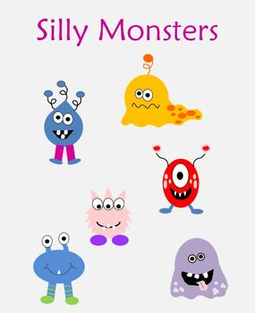 Silly Monsters Clipart