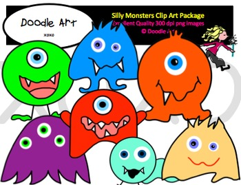 Silly Monsters Clipart Pack