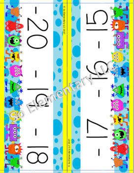 Number Line Silly Monsters Design 1