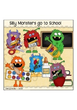 Silly Monsters to school Clipart Collection