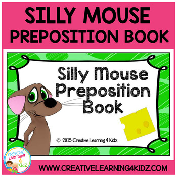 Preposition Silly Mouse Cut & Paste Book