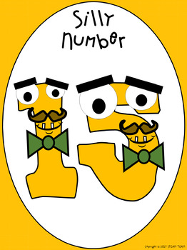 Silly Numbers Posters with Flashcards and Class Book Templates