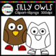 Silly Owls Clipart