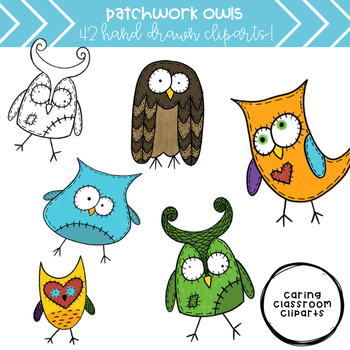 Patchwork Owls - Personal and Commercial Use