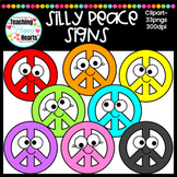 Silly Peace Sign Clipart