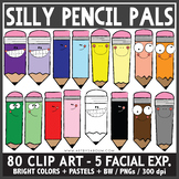 Silly Pencil Pals Clip Art