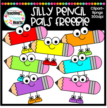 Silly Pencil Pals Free Clipart