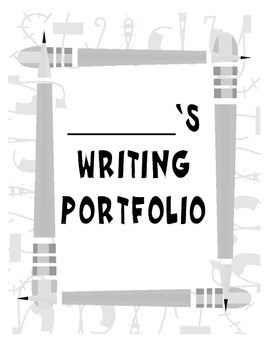 Silly Pencil Theme Writing Portfolio Cover