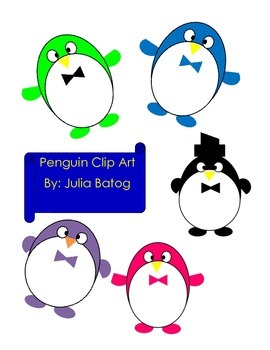Silly Penguin Clip Art