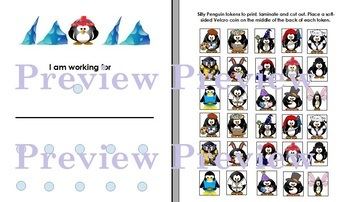 Silly Penguins Token Board- Autism, ABA