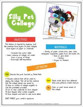 Silly Pet Collage Art Lesson