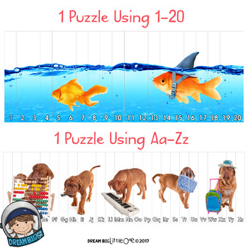 Silly Pets Puzzle (Number and Letter Recognition with Real Photos)