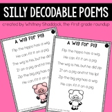 Silly Decodable Poems for First Grade