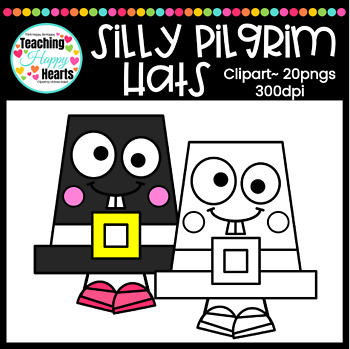 Silly Pilgrim Hats Clipart