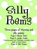 Silly Poems - Three Short Poetry Activities