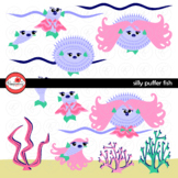 Silly Puffer Fish Story Element Clipart by Poppydreamz
