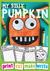 Silly Pumpkin Craftivity {Paper Craft + Writing Papers}
