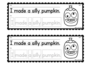Silly Pumpkin Writing {Week of Writing Booklet}