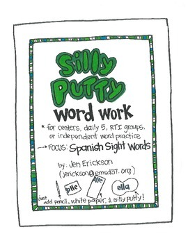 Silly Putty Word Work:  Spanish Sight Words