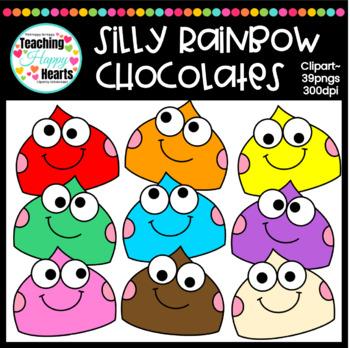 Silly Rainbow Chocolates Clipart