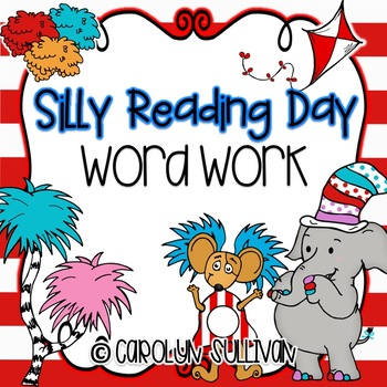 Silly Reading Day Word Work for March in Kindergarten