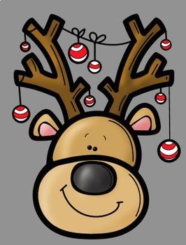 Silly Reindeer Clip Art