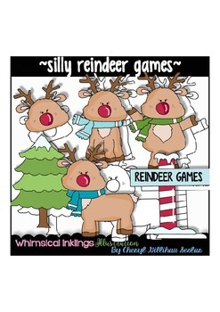 Silly Reindeer Games Clipart Collection