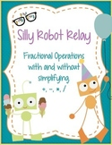 Fraction operations with unlike denominators: Silly Robot Relay.