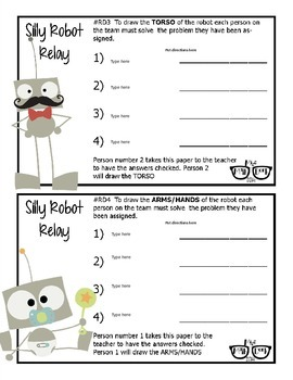 Silly Robot Relay template - Personal Use Only!