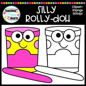 Silly Rolly-Doh Clipart