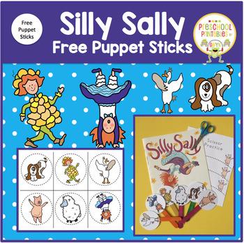 Silly Sally FREE PUPPET STICKS