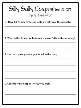 Silly Sally Worksheets