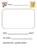Silly Sally {writing fill-in-the-blank activity}