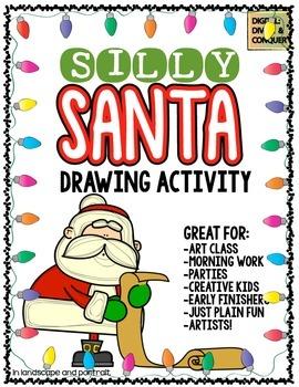 Silly Santa!  Art and Drawing Activity