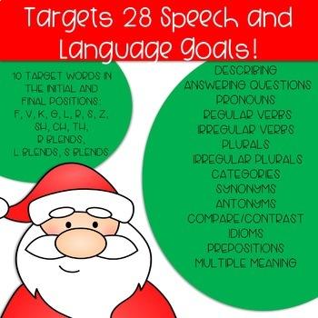 Silly Santa Masks: Speech and Language Craft