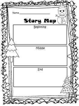 Silly Santa Story Maps Freebie