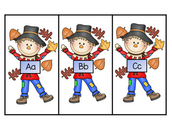 Silly Scarecrow Beginning Sound and Letter Matching Game