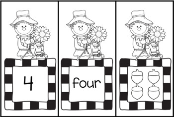 Silly Scarecrows - Four Literacy and Math Games for PreK and Kinder