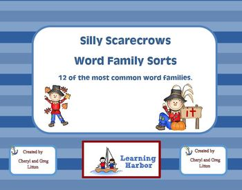 Silly Scarecrows Word Family Sorts