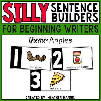 Silly Sentence Builders: Apples
