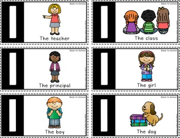 Silly Sentence Builders: Back-to-School