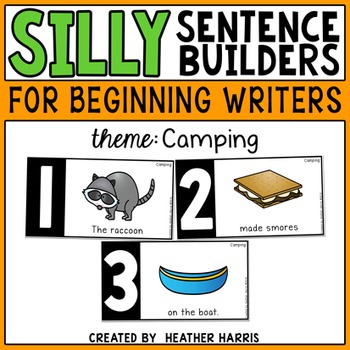 Silly Sentence Builders: Camping