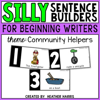 Silly Sentence Builders: Community Helpers