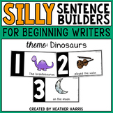 Silly Sentence Builders: Dinosaurs