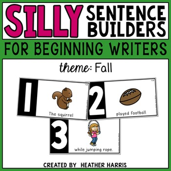 Silly Sentence Builders: Fall