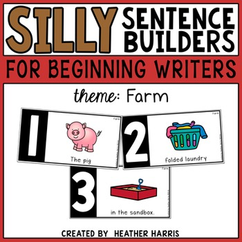 Silly Sentence Builders: Farm