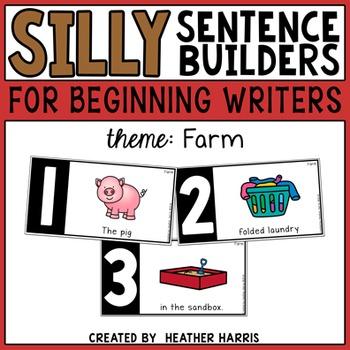Silly Sentence Builders: Farm