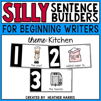 Silly Sentence Builders: Kitchen