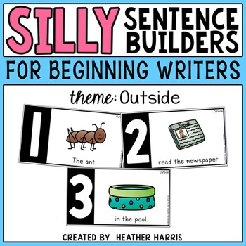 Silly Sentence Builders: Outside