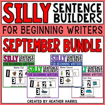 Silly Sentence Builders: SEPTEMBER BUNDLE